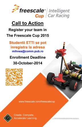 The Freescale Cup 2015 Sign Up Poster