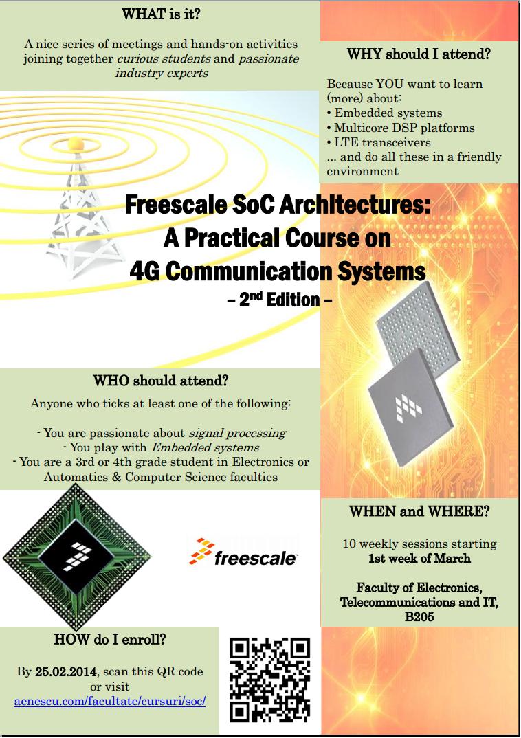 Curs privind soluții de implementare pentru echipamente de comunicații 4G 2012-2013